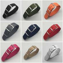 Correa de Nylon de tela nato para pulsera deportiva, accesorio de correas, correa de hebilla para reloj 007, James bond, color negro, 18, 20, 22 y 24mm
