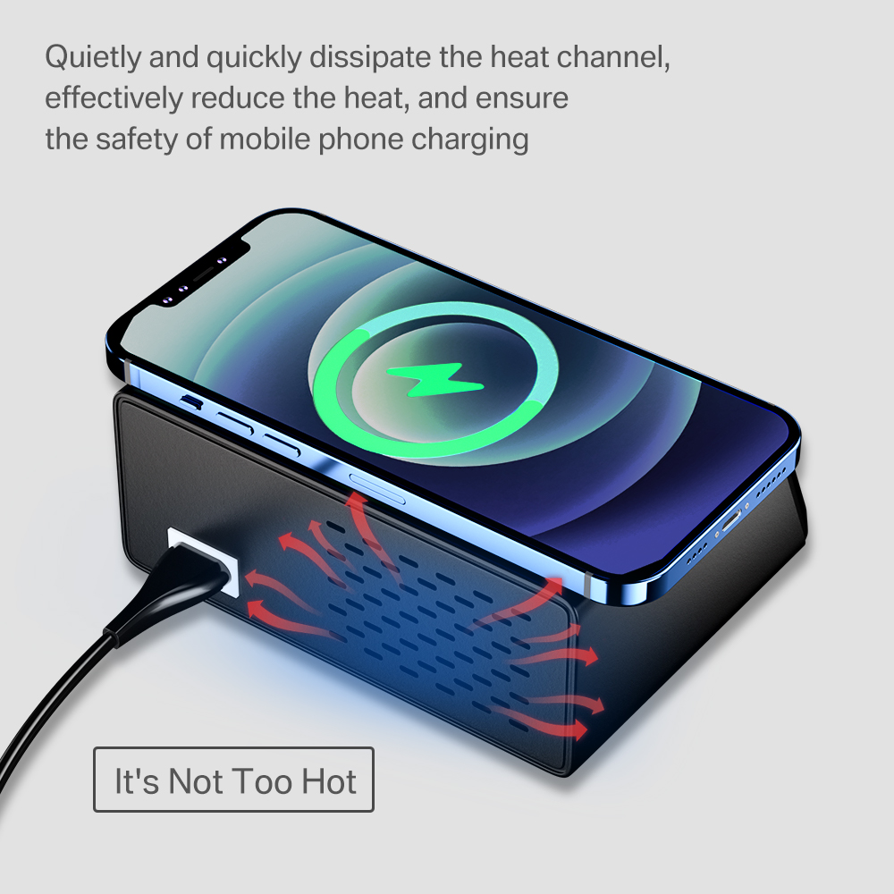 100W 8 Ports USB Charger Quick Charge 3.0 Adapter HUB Wireless Charger Charging Station PD Fast Charger For iPhone 11 Samsung