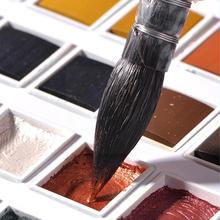 12 Colors Metallic Glitter Watercolor Paint Set Basic Drawing Art Watercolor Paint Glitter Supply Paint Paint For Beginner V0O2