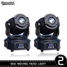 Lier 90W Moving Head Dj Licht Led Beam Disco Lichten Dmx512 Podium Verlichting Strobe Party Licht 2 Stks/partij
