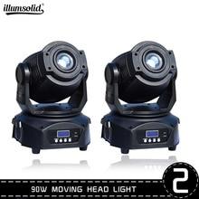 Lyre 90 вт движущаяся головка Dj освещение светодиодный луч диско освещение Dmx512 сценическое освещение стробоскоп вечерние ринка свет 2 шт./лот