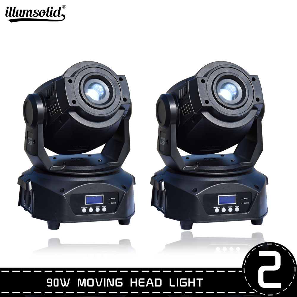 Lyre 90w Moving Head Dj Light Led Beam Disco Lights Dmx512 Stage Lighting LED Strobe Party Light 2PCS/LOT
