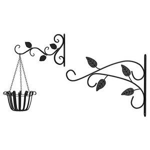 4 шт. подвесная корзина кронштейны крюк для растений металлический открытый сад Heavy Duty настенный крючок для фонарей кронштейн из кованого железа