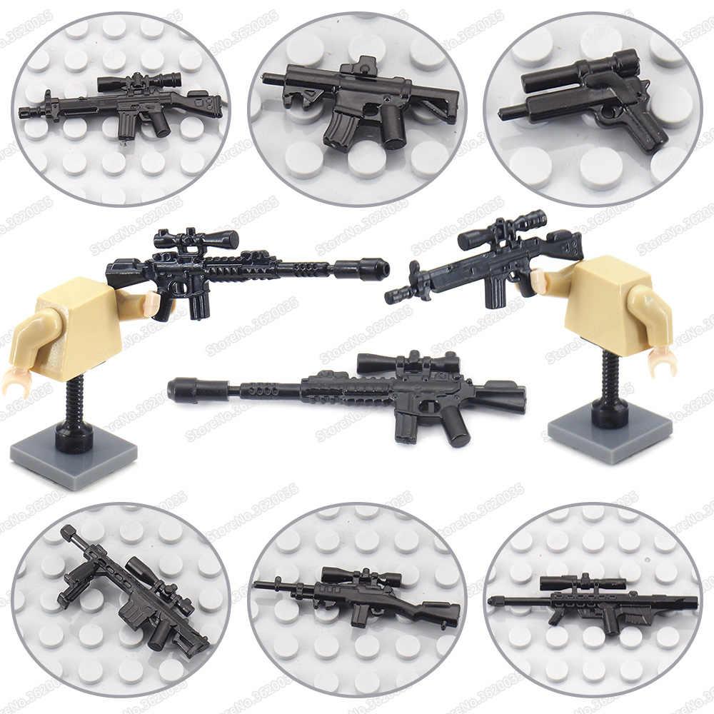 Military Outfit Gebäude Block Soldat Waffen Special Forces Figuren Pistolen Armee WW2 Modell Moc Battlefield Geschenke Pädagogisches Spielzeug
