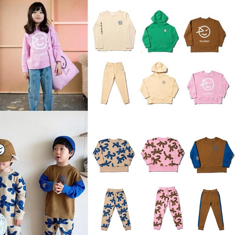 Kids Sweaters 2021 Wynken Brand New Autumn Winter Boys Girls Cartoon Face Print Sweatshirts Baby Children Outwear Clothes Tops 1