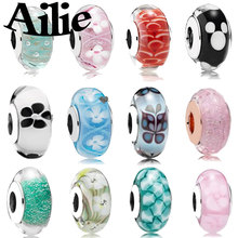 Ailie fit original Pandora charm bracelet DIY glass beads simple classic high quality ladies 925 sterling silver fashion jewelry