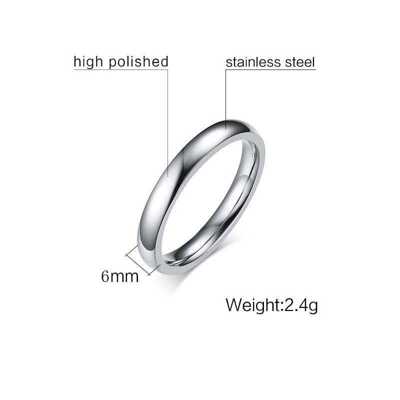 FXM CR1 6mm New Arrival Fashion Jewelry For Women Birthday Gift Best Selling Silver Ring Lover 2 Style Can Chioce With Stone