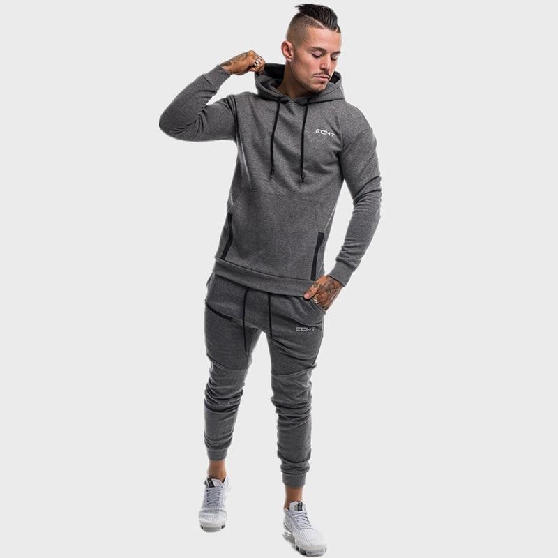 Men's Sets Fashion Sportswear Tracksuits Men Sportsman Wear Hoodies+Pants Casual Outwear Suits Men's Sports Suits Tracksuit