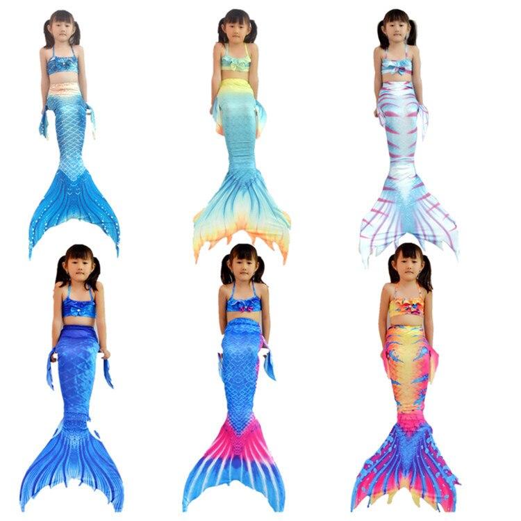 2018 New Children Mermaid Swimsuit Mermaid Tail Tour Bathing Suit Mermaid Clothing Tour Bathing Suit Bikini Swimming
