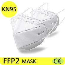 100 piezas FFP2 máscaras faciales KN95 cara máscara proteger maske anti polvo máscara de boca filtrada mascarillas tapabocas
