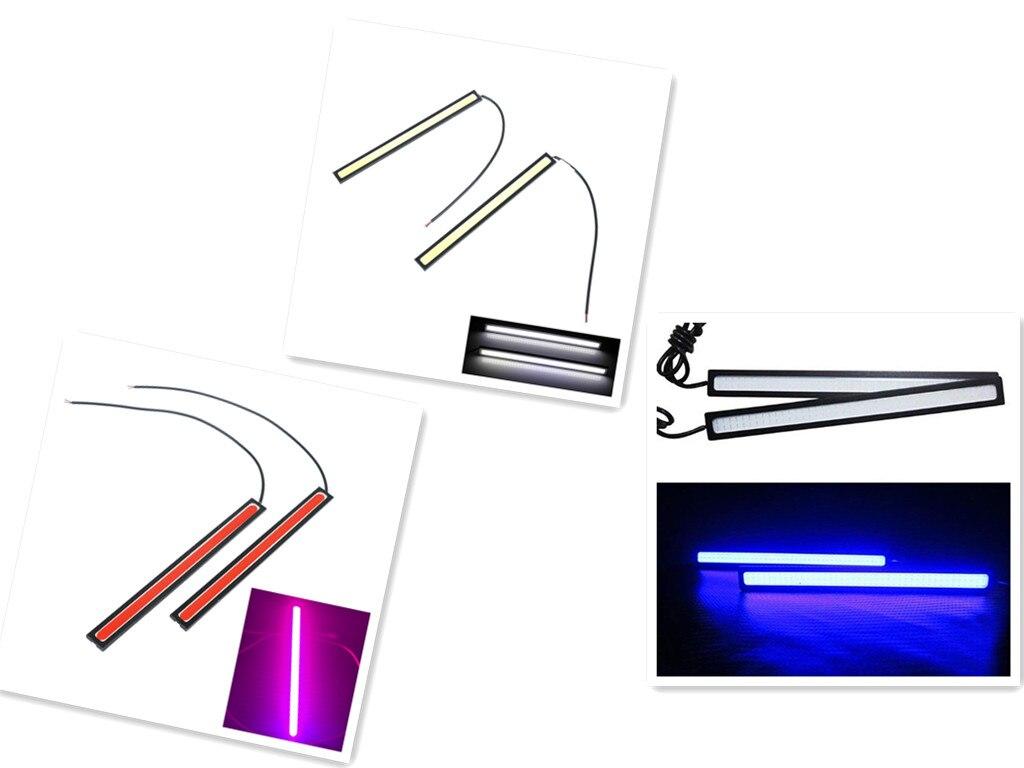 2 adet 17 CM COB LED araba farı dış işıklar otomatik su geçirmez Styling gündüz sürüş sis farları araç koşu işık