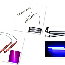 2pcs 17 CM COB LED Car Lamp External Lights Auto Waterproof Styling Daytime Driving Fog Lights Vehicle Running Light