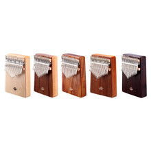 17 Keys Kalimba Traditional Plucked String Instruments Wooden Thumb Piano with Tuning Hammer Musical Scale Sticker(China)