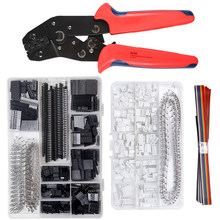 SN-28B 0.1-1mm² Crimping pliers tool set-1550pcs 2.54mm Dupont connectors and crimp pins,460pcs 2.54 mm JST-XH JST connector kit
