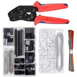 Детали для обжима 0,1-1 мм², инструмент для обжима, детали для разъемов Dupont 2,54 мм и обжимных контактов, 460 шт., 2,54 мм, набор разъемов JST
