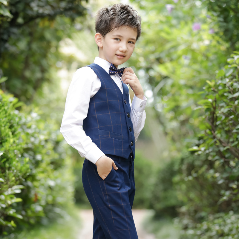 2019 Kids Baby Boys Tuxedo Suit Blazers Shirt Waistcoat Tie Pants Formal Outfits Clothes Traje Dos Meninos