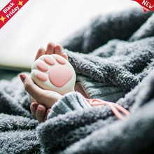 3000mAh Cute Cat Paw Shape USB Rechargeable Hand Warmer Power Bank LED Flashlight Double-Side Rapidly Heating 1pc New