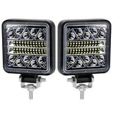 OKEEN barre de 4 pouces pour tracteur stroboscopique, accessoire 102W, pour voiture et camion, pour SUV lampes de travail led, 4x4, 4DW, 12V 24V, lumière led