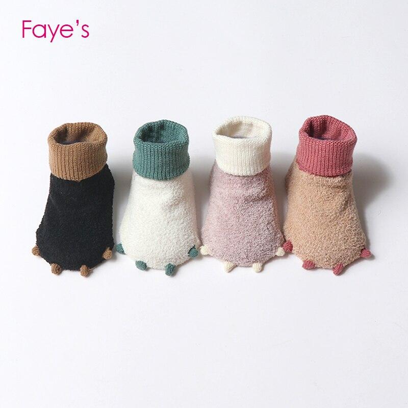2Pairs/Pack 0-3T Baby Socks Sets Thick Terry Toddler Boys Girls Kids Socks Children Socks