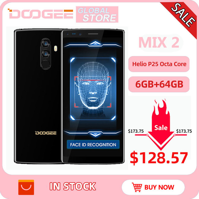 DOOGEE Mix 2 Android 7.1 4060mAh 5,99 zoll FHD + Helio P25 Octa Core 6GB RAM 64GB ROM smartphones Quad Kamera 16,0 + 13,0 megapixel