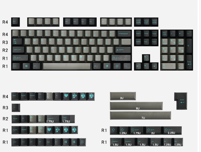 Dolch keycap sets EnjoyPBT Doubleshot ABS keycap cherry profile 153 keycaps for mechanical keyboard