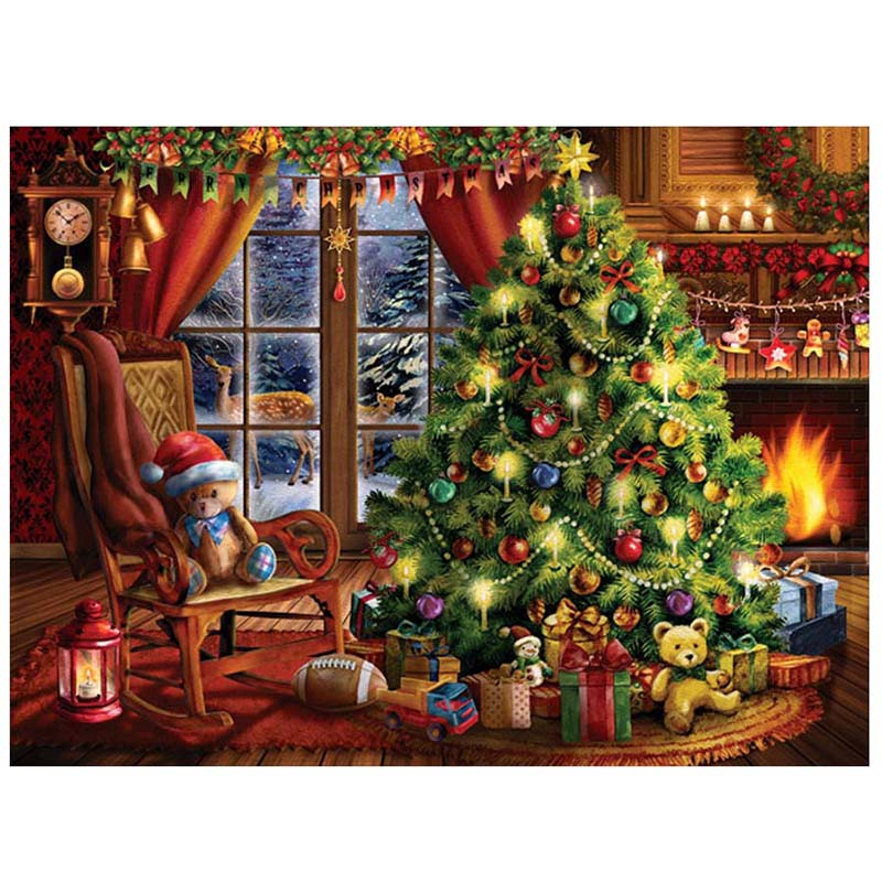Promotion! 5D Diy Diamond Painting Christmas Tree Gift Full Round Drill Mosaic Embroidery Sale Rhinestone Scenery Wall Decor