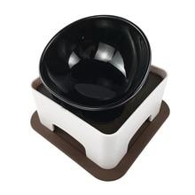 Питомец скошенный Кот керамическая миска для еды, милая наклонная кормушка для кошек с подкормкой противоскользящая не разливающаяся кошачья тарелка