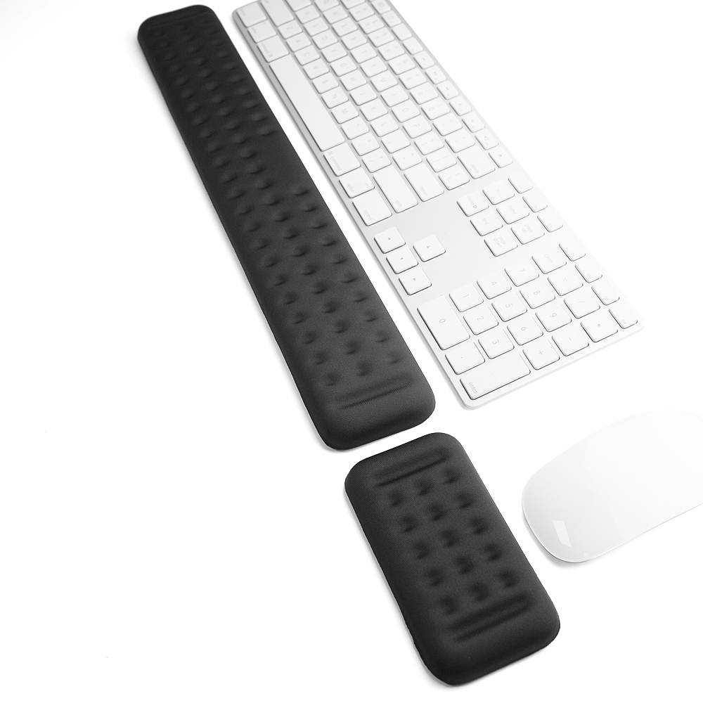 Keyboard and Mouse Wrist Rest Ergonomic Memory Foam Hand Palm Rest Support for Typing and Gaming Wrist Pain Relief and Repair image