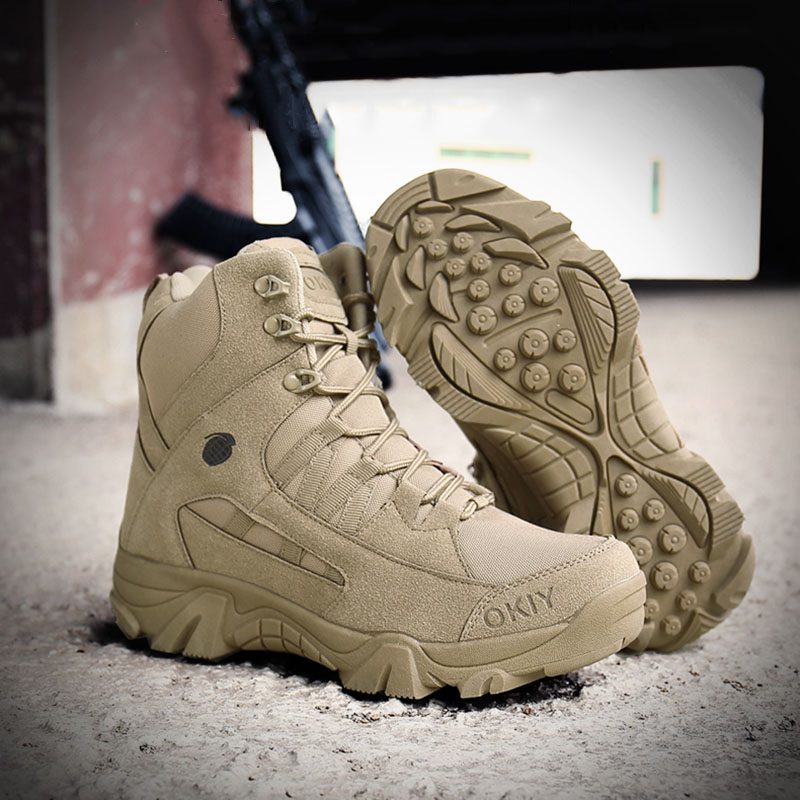 Men Tactical Boots Army Boots Mens Military Desert Waterproof Work Safety Shoes Climbing Hiking Shoes Ankle Men Outdoor Boots