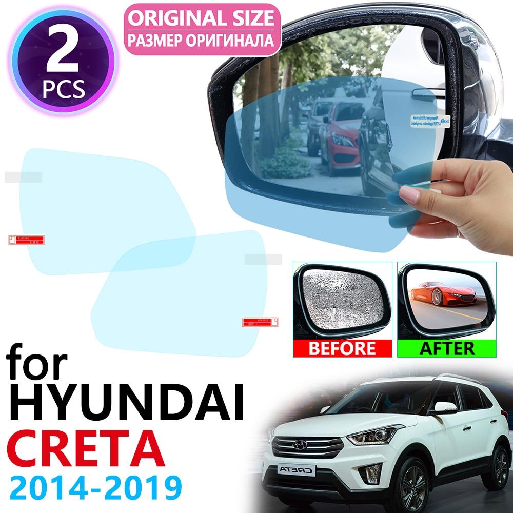 For Hyundai Creta Ix25 2014~2019 Full Cover Rearview Mirror Anti-Fog Rainproof Anti Fog Film Accessories 2015 2016 2017 2018