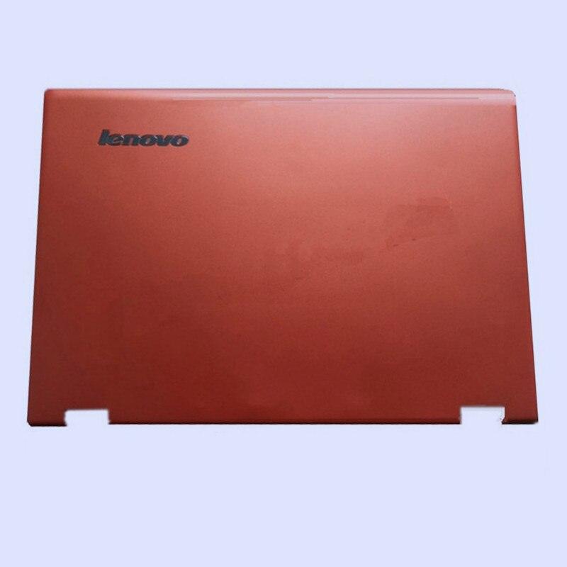 Новая Оригинальная ЖК-задняя крышка для ноутбука/передняя рамка/Упор для рук верхняя/Нижняя чехол для LENOVO Yoga 3-14 YOGA 700-14ISK серия - Цвет: orange top cover