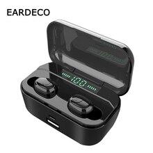 EARDECO Led Display Original Earphone Bluetooth 5.0 Wireless Stereo Earphones Earbuds 2200mAh Power Bank Waterproof