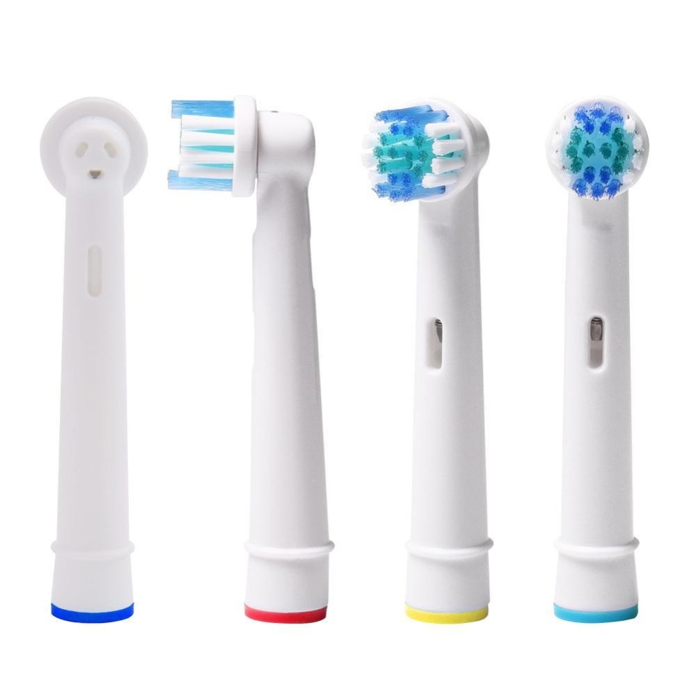 10 lots/Lot Replaceable Electric Toothbrush Brushes Dental Soft Bristle Vitality Dual Clean Hygiene Care For Oral B Nozzles image