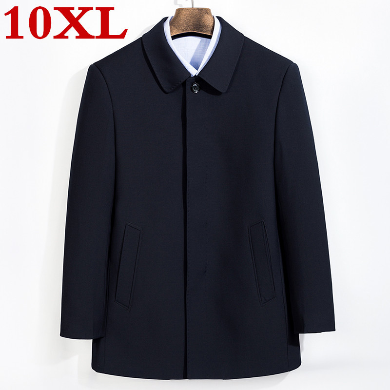 New Plus Size 8XL 7XL  Winter Jacket  Men Thickening Wool Coat Slim Fit Jackets Outerwear Warm Man Casual Jacket Overcoat Coat