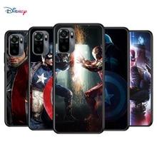 Marvel Avengers Super Hero kapitan ameryka dla Xiaomi Redmi uwaga 10S 10 9T 9S 9 8T 8 7S 7 6 5A 5 Pro Max TPU silikonowy futerał na telefon