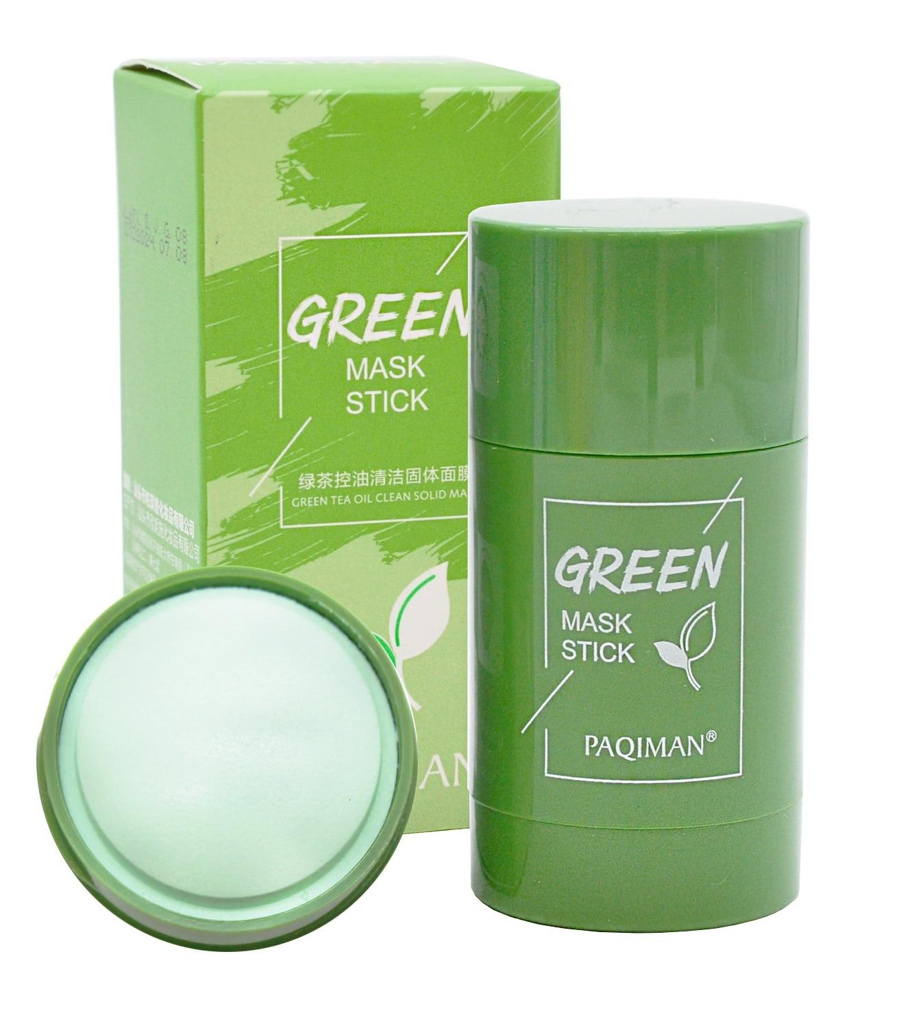 PAQIMAN Глиняная маска Тканевая в стике для глубокого очищения и сужения пор с экстрактом Зеленого Чая зеленая маска палки 40 гр PAQ-40g