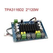 Amplificador DE POTENCIA de Audio Digital de alta potencia estéreo de doble canal, TPA3116, 2x120W, Amplificador DIY