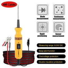 Testador de circuito automotivo, bt160, 12v, 24v, para carro, diagnóstico automotivo, scanner de tensão elétrico integrado