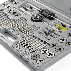 60 sztuk/partia zestawy do gwintowania i matryc metryczne matryce do narzędzi ręcznych do obróbki metalu