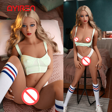 AYIREN 158cm Silicone Sex Doll Small Breast Sexy Beauty Adult Doll Realistic Vag
