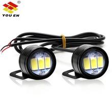 купить YOUEN DC 12V 5W Eagle Eyes LED 20mm Reverse Backup Light drl Daytime Running Light Signal Bulb Fog Lamp for Motorcycle Car онлайн