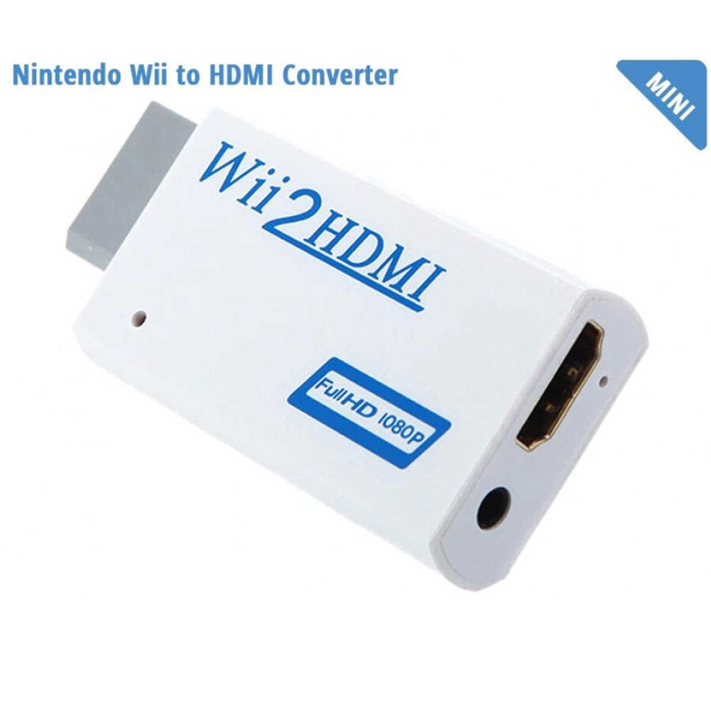 Wii к конвертеру HDMI Wii Вход к HDMI конвертер адаптер 1080P HD аудио Выход кабель 3,5 мм Джек привести HDMI Вход