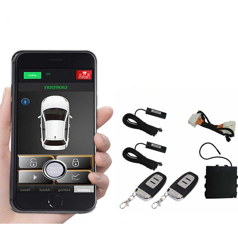 For Japan Car Remote Start Obd Plug And Play Smartphone Keyless Entry Car Alarm System Pke Button Auto Central Locking/unlock