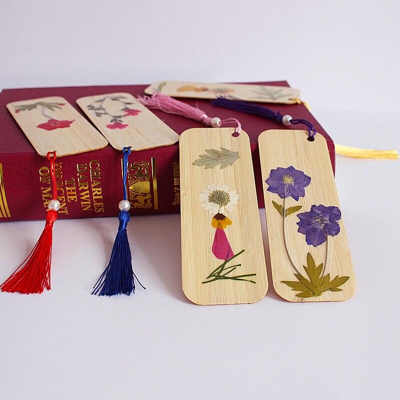 Christmas 1pcs Bookmark Chinese traditional culture Handmade DIY Plum bamboo