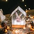 Maison forme boîte à musique enfant fille cadeau décor de noël pour la maison hôtel horloworek boîte à musique noël Miniature bricolage DollhouseLA238