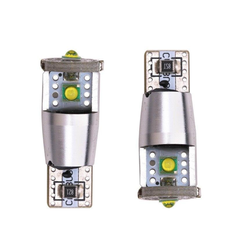 2pcs Car Led Light T10 3535 T10 Cree 10W LED 3SMD Color For Car Auto Led White Side Wedge Light Lamp Clearance Light Bulb DC 12V