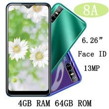 6.26 screen drop gota de água 8a 4g ram 64g rom face id reconhecimento original telefone celular desbloqueado smartphone android mtk telefone celular