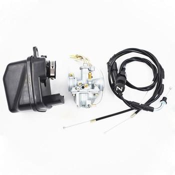 Carburetor For Yamaha Y Zinger Pw 50 Pw50 Uk 23mm Plug Carburetor Air Filter Choke Cable & 21mm Throttle Choke Cable suitable motorcycle carburetor carb for yamaha py50 qt50 pw50 pw 50 dirt bike free shipping