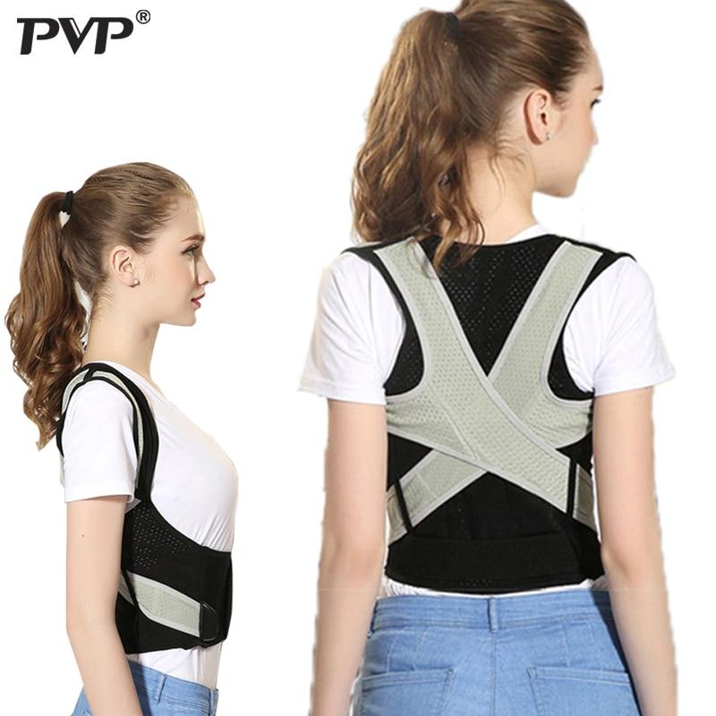 PVP Back Posture Corrector Therapy Corset Spine Support Belt Lumbar Back Posture Correction Bandage For Men Women