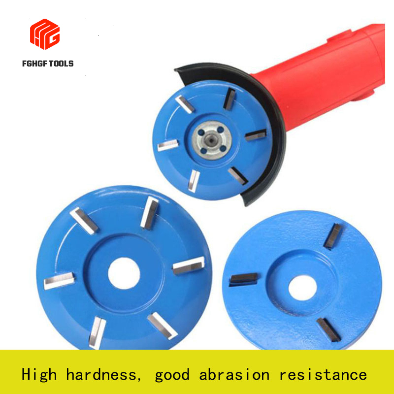 FGHGF 3/4/5/6teeth Blue Carpentry Blade Wood Carving Knife Tea Table Angle Grinder Polish Disc Tree-root